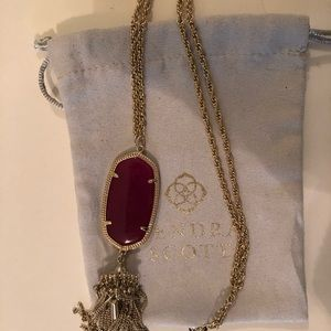 Kendra Scott purple rayne long pendant necklace